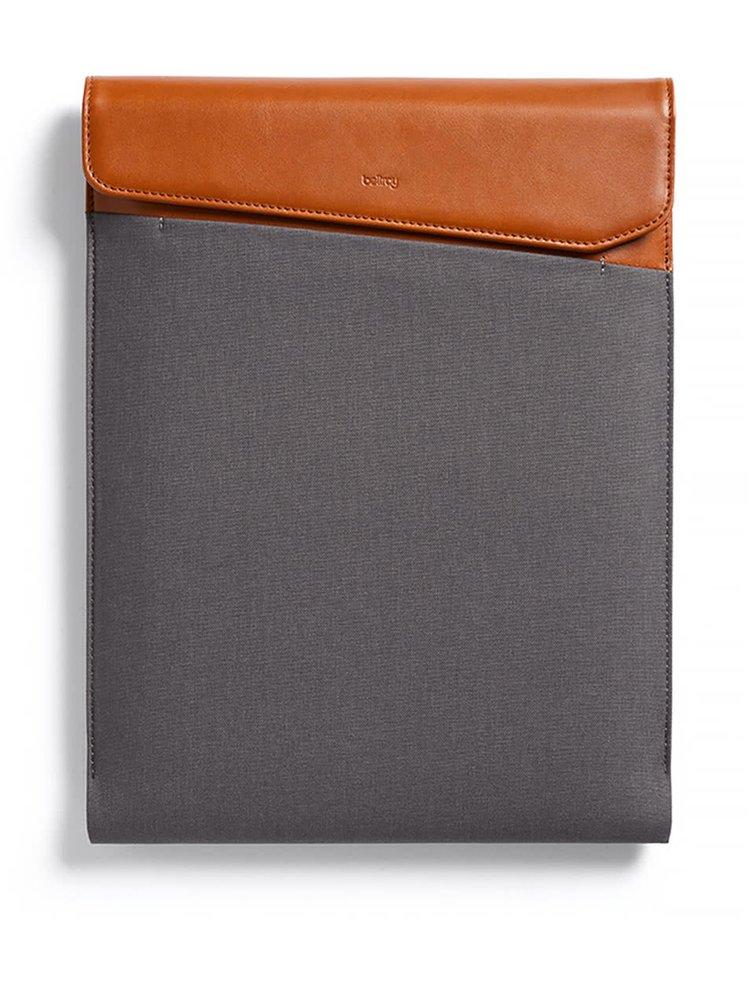 "Hnědo-šedý obal na notebook s koženými detaily  Bellroy Laptop Sleeve Extra 13"""