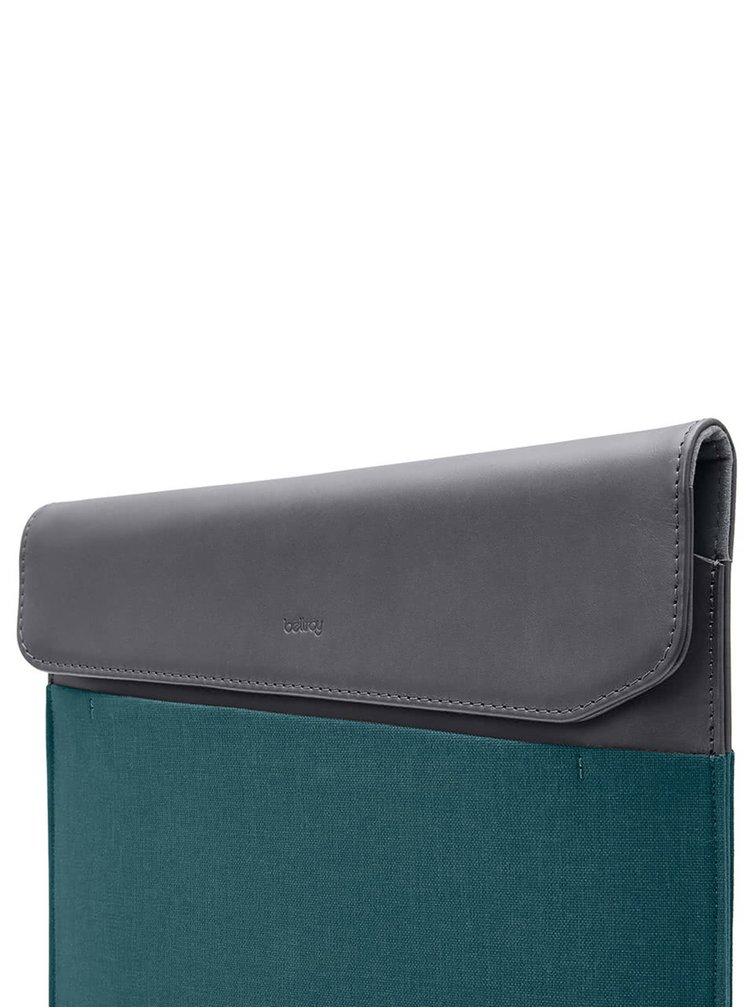 "Modro-šedý obal na notebook s koženými detaily Bellroy Laptop Sleeve Extra 13"""