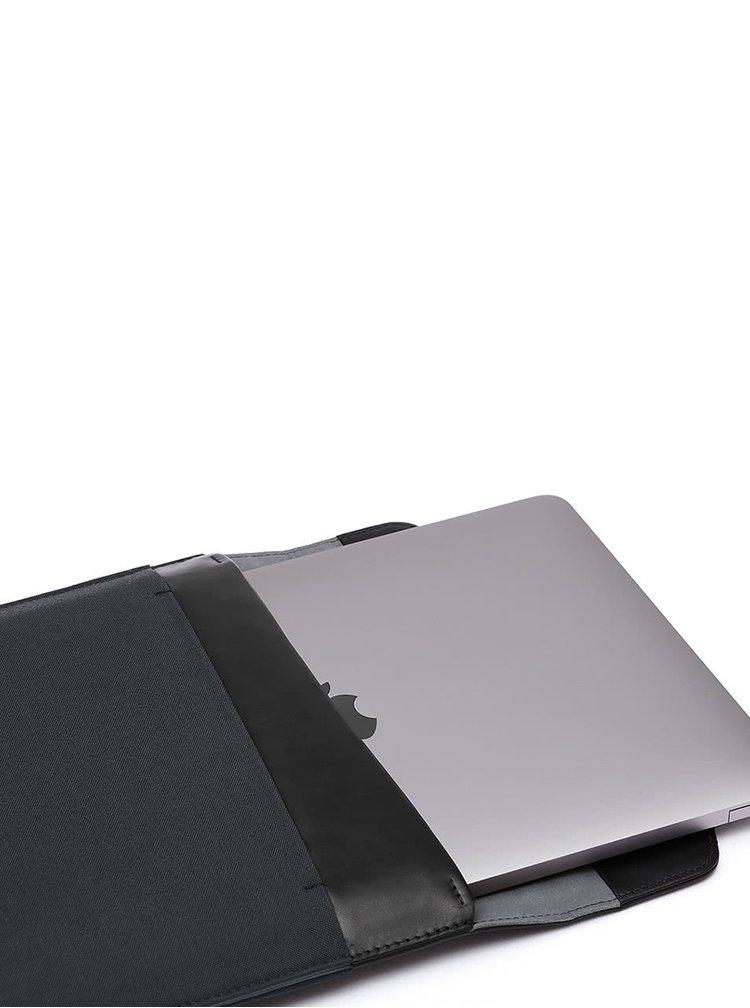 "Černo-šedý obal na notebook s koženými detaily Bellroy Laptop Sleeve Extra 13"""