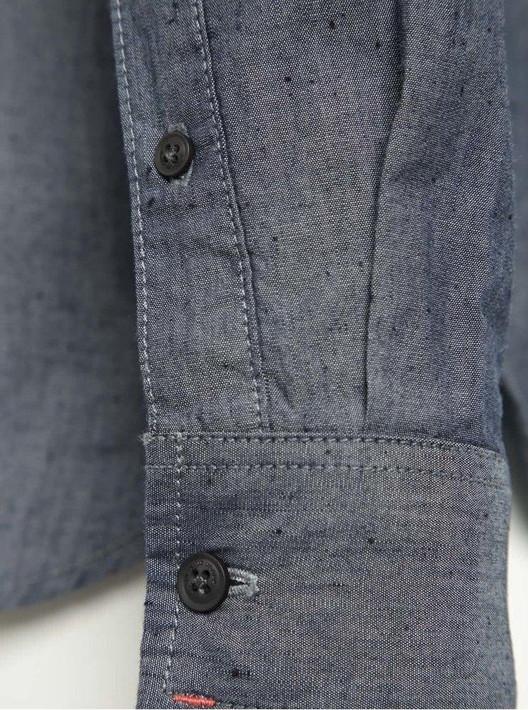 Camasa gri albastrui din bumbac - Blend