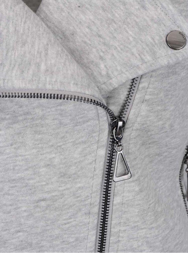 Světle šedý mikinový křivák ONLY New
