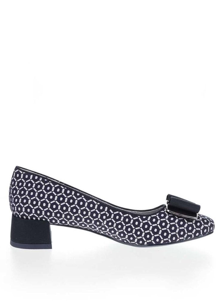 Pantofi albastri Ruby Shoo June cu toc mic