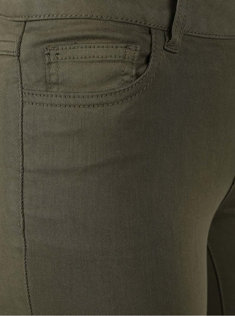 Khaki slim fit zkrácené kalhoty VILA Commit