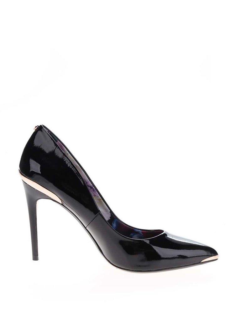 Pantofi stiletto negri Ted Baker  Kaawa din piele lăcuită