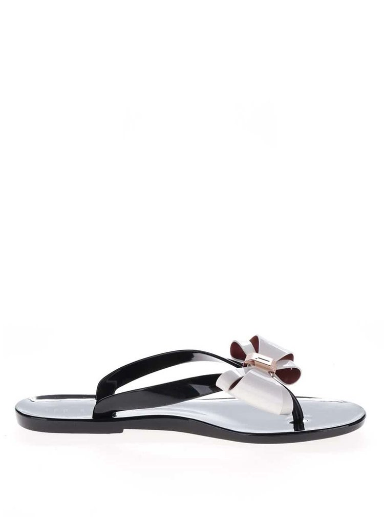 Papuci flip-flop negri Ted Baker cu funda