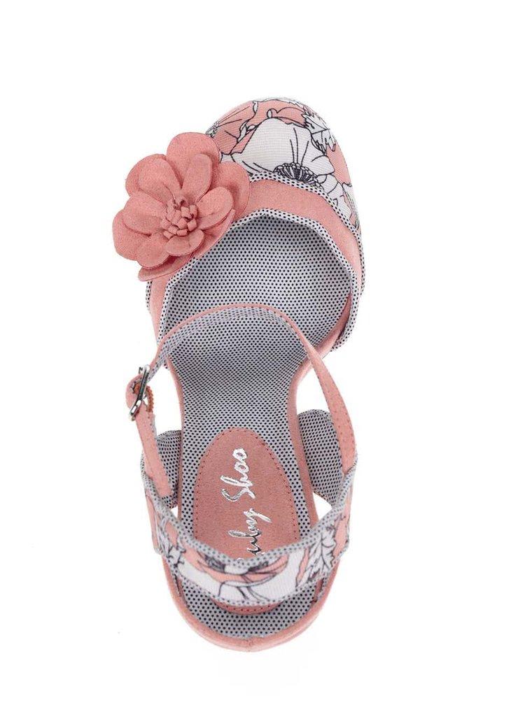 Růžové květované lodičky Ruby Shoo Heidi