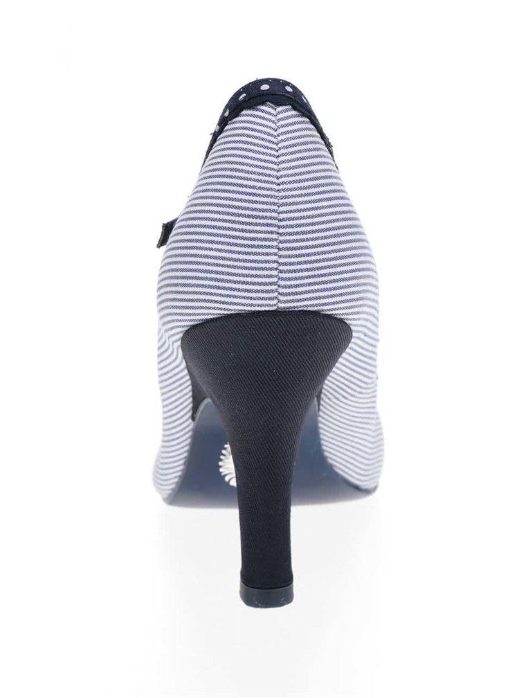 Modré pruhované lodičky Ruby Shoo Jessica