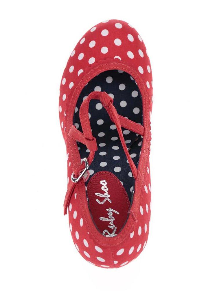 Červené puntíkované lodičky Ruby Shoo Jessica