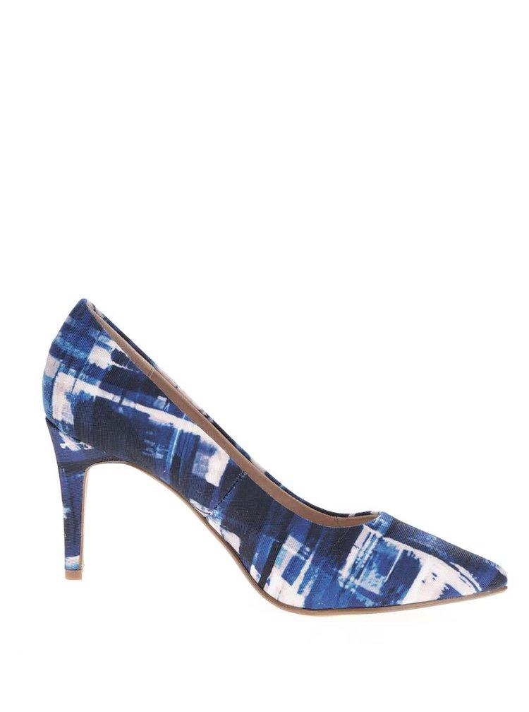 Bílo-modré vzorované lodičky Dorothy Perkins