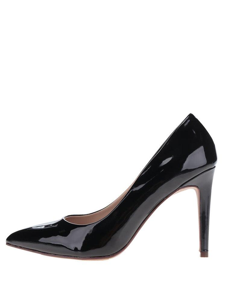 Pantofi negri lăcuiți  Dorothy Perkins cu toc stiletto
