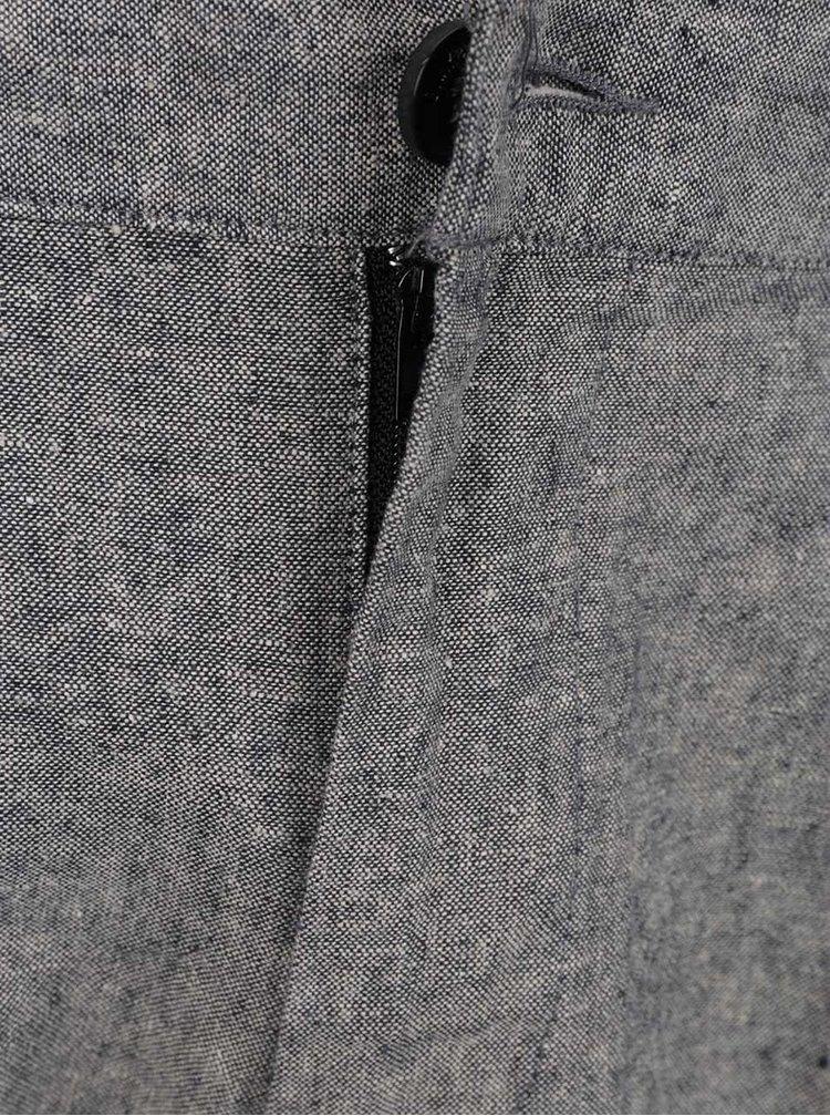 Pantaloni gri melanj ONLY & SONS Hale cu croi drept