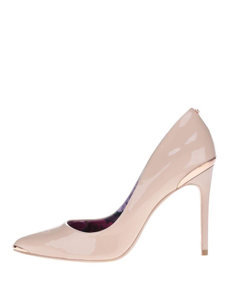 Pantofi stiletto nude Ted Baker  Kaawa din piele lăcuită