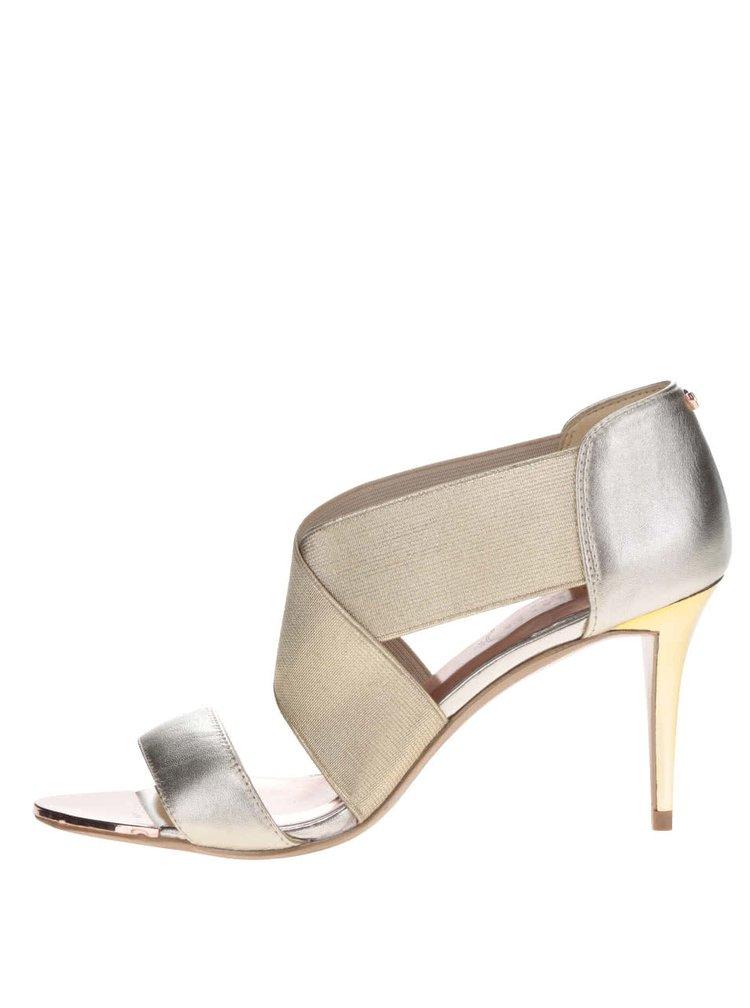 Sandale aurii din piele Ted Baker Leniya cu toc