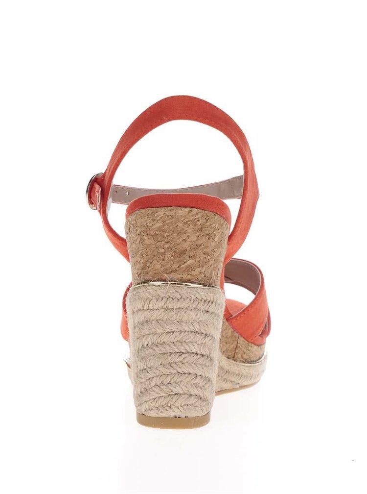 Sandale rosii cu platforma Dorothy Perkins