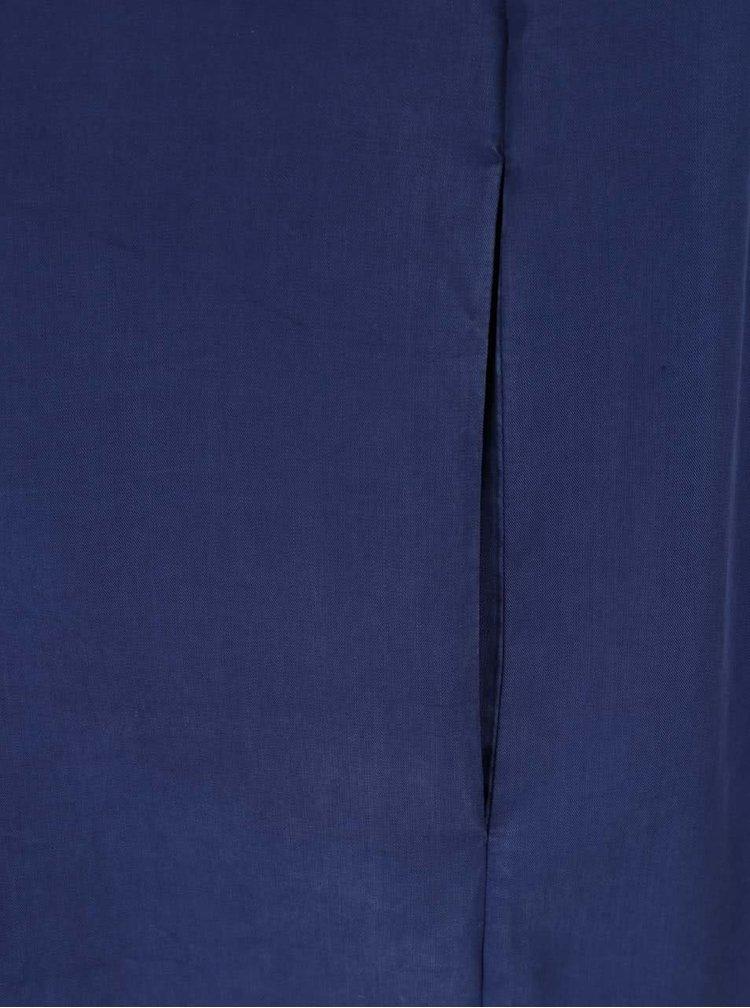 Modré šaty s odhalenými rameny French Connection Stayton