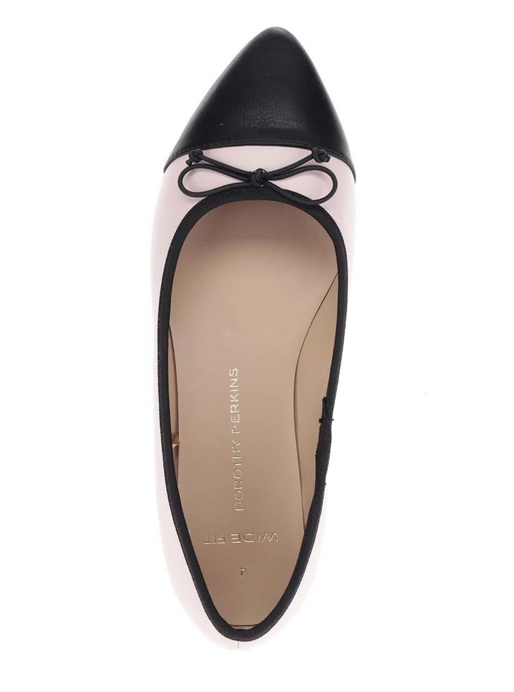 Černo-růžové baleríny Dorothy Perkins