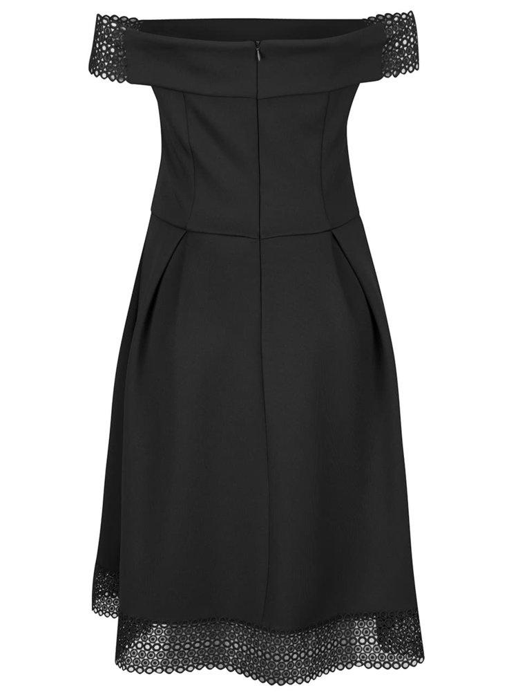 Černé šaty s odhalenými rameny Dorothy Perkins