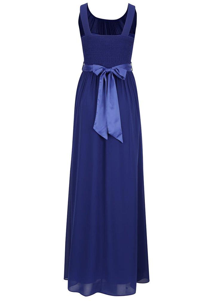Modré dlouhé šaty Dorothy Perkins