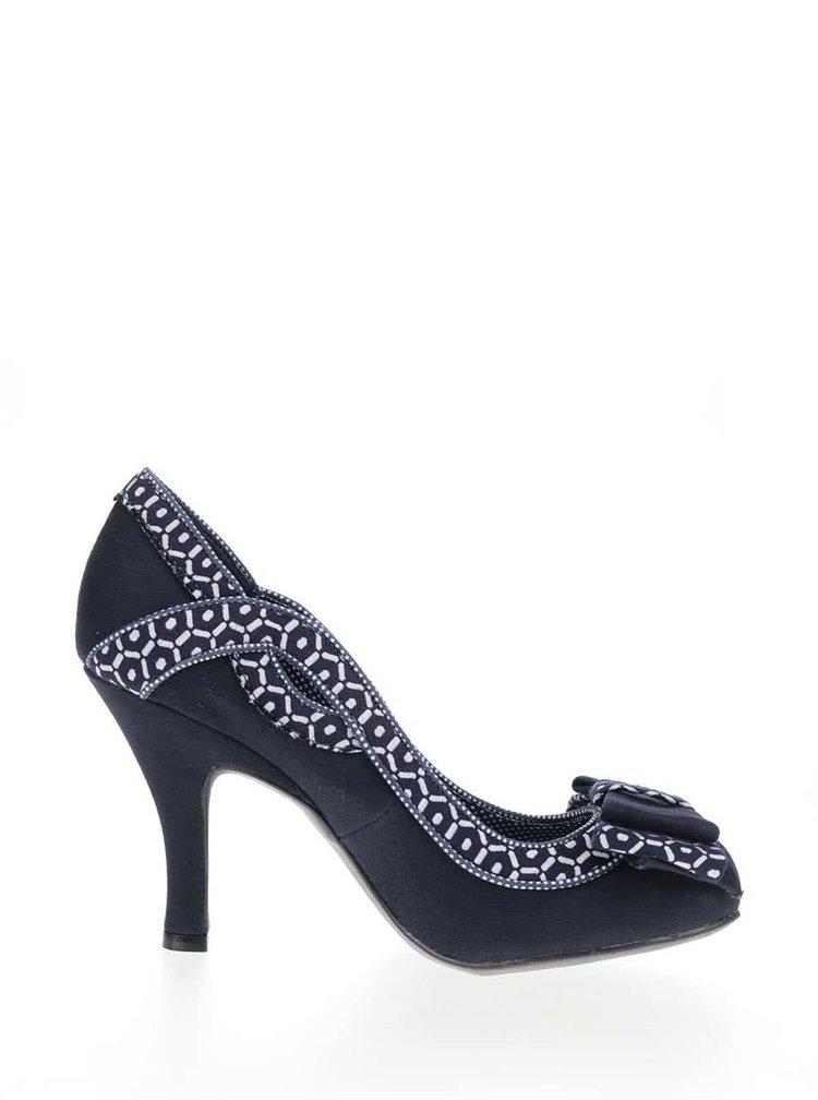 Pantofi albastru-inchis Ruby Shoo Ivy cu model