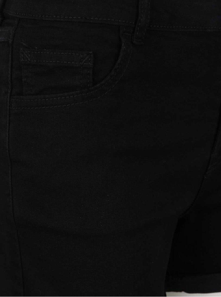 Černé džínové kraťasy Dorothy Perkins