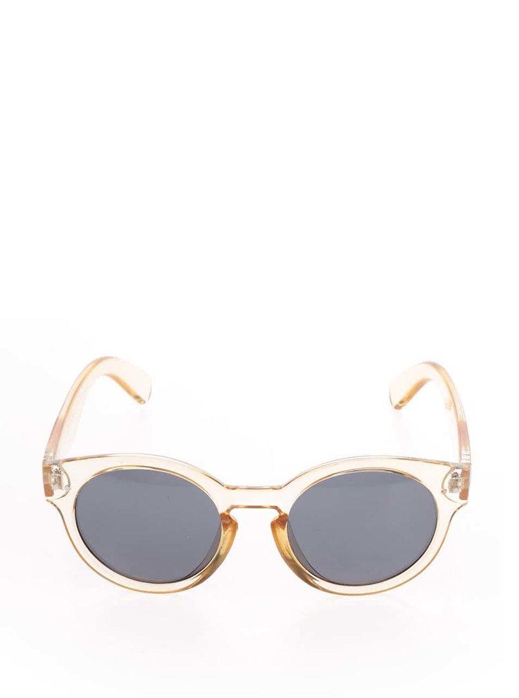 Oranžové transparentní unisex sluneční brýle CHPO Burn