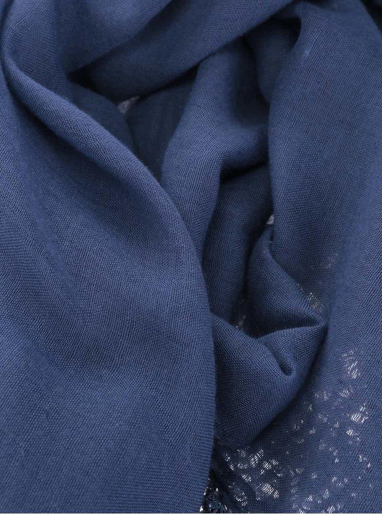 Tmavě modrý šátek s krajkou Dorothy Perkins