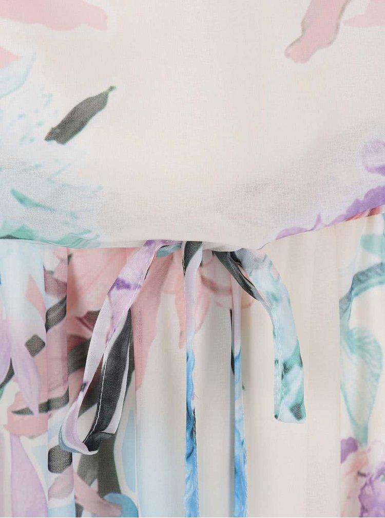 Krémové květované maxišaty Dorothy Perkins