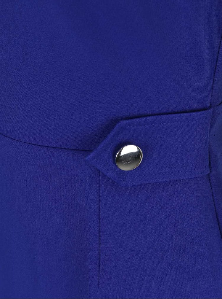 Modré pouzdrové šaty s ozdobným zipem Dorothy Perkins