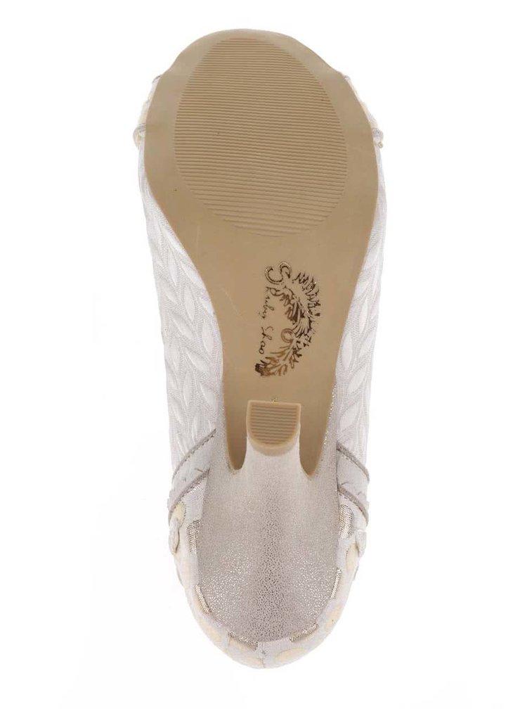 Pantofi cu toc crem Ruby Shoo Amy cu funda decorativa