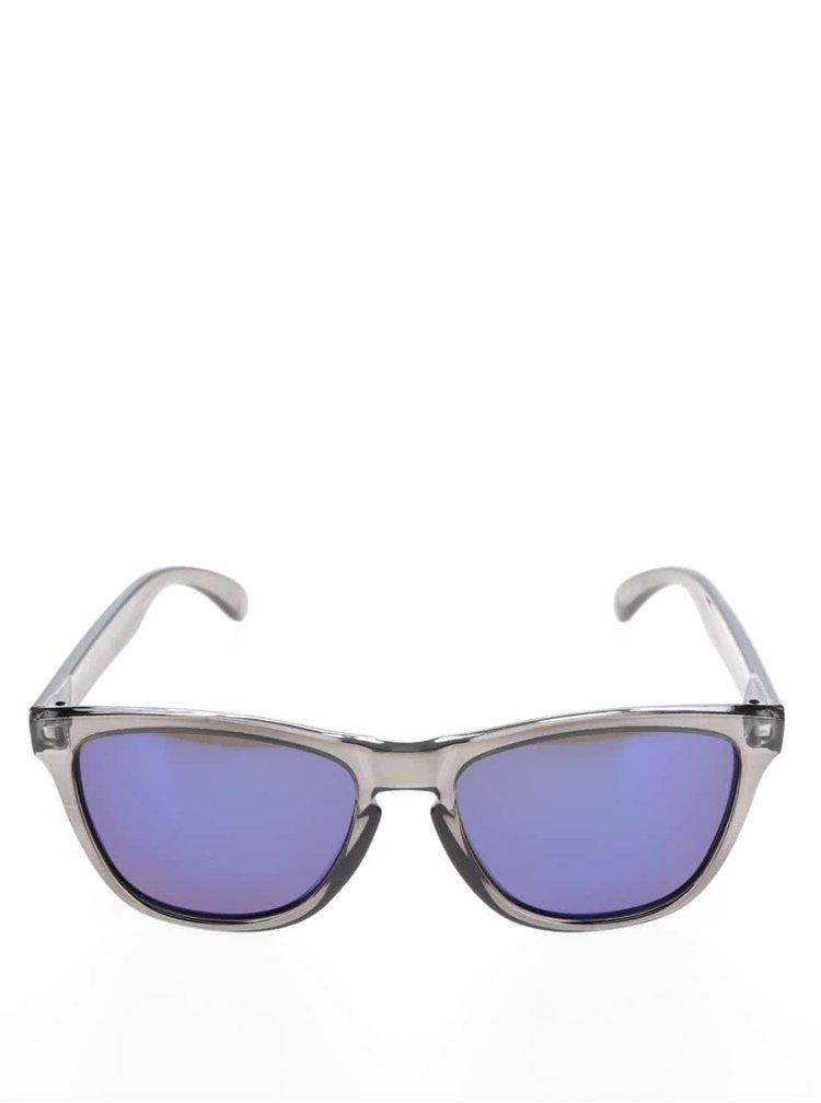 Tmavě šedé transparentní unisex sluneční brýle CHPO Bodhi