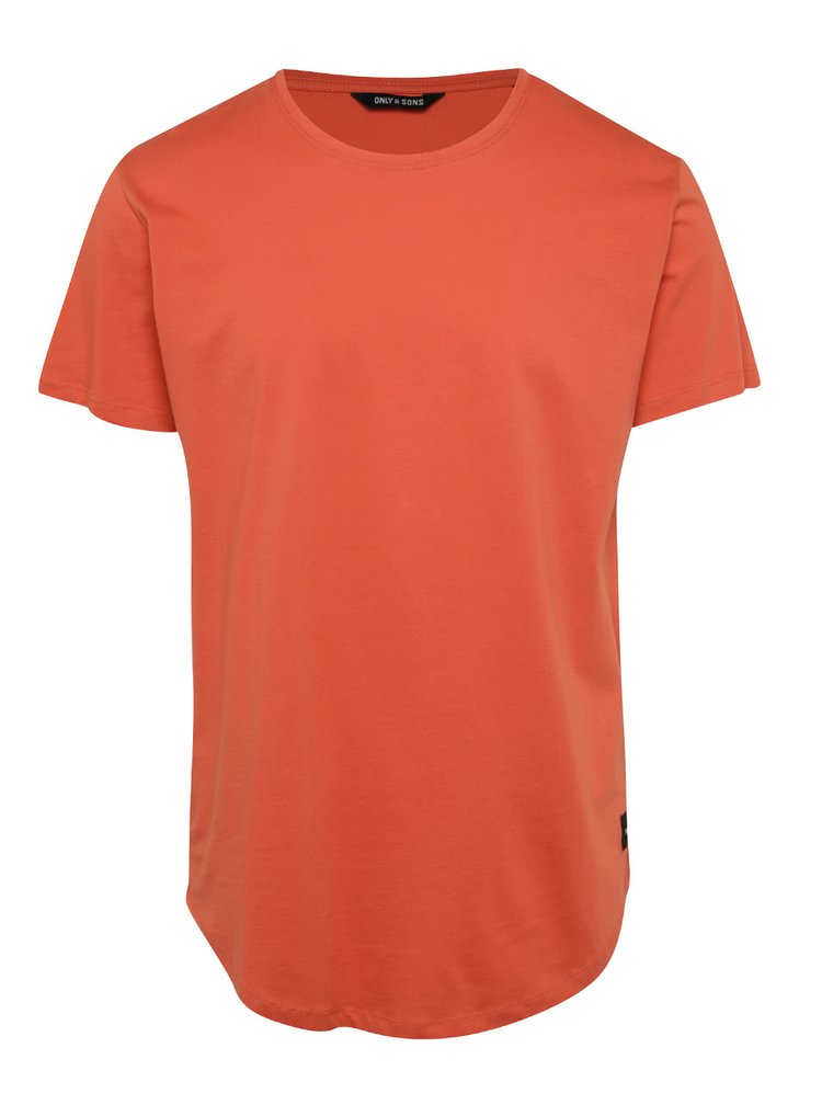 Tricou portocaliu ONLY & SONS Matt din bumbac