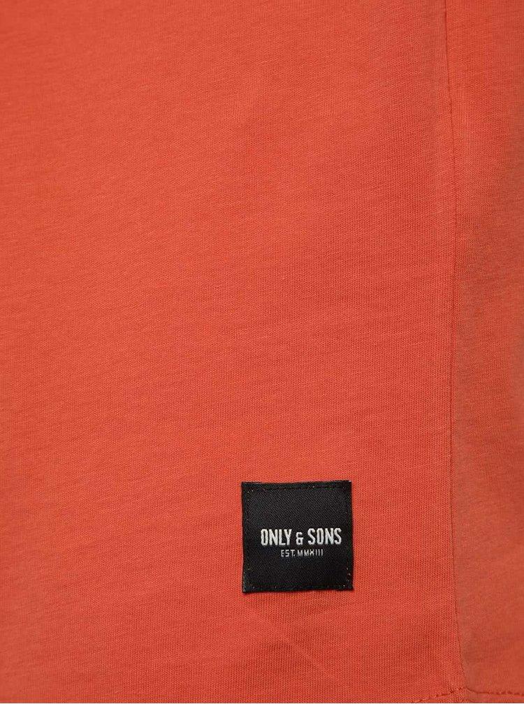 Oranžové basic tričko Only & Sons Matt