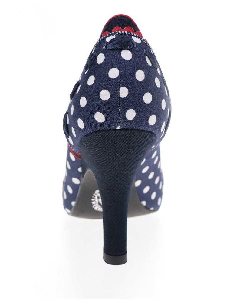Tmavě modré puntíkované lodičky s mašlí Ruby Shoo Amy