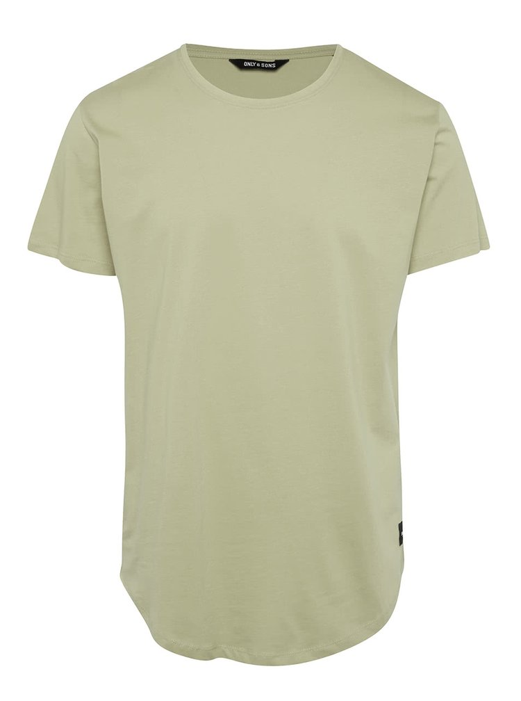 Tricou verde deschis ONLY & SONS Matt din bumbac
