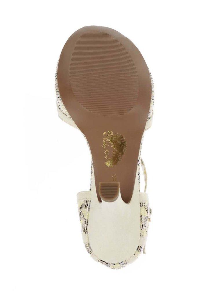 Pantofi galben deschis Ruby Shoo Polly cu toc
