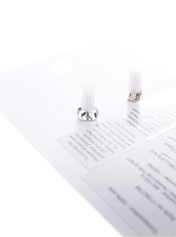 Náušnice ve stříbrné barvě Pieces Miebe