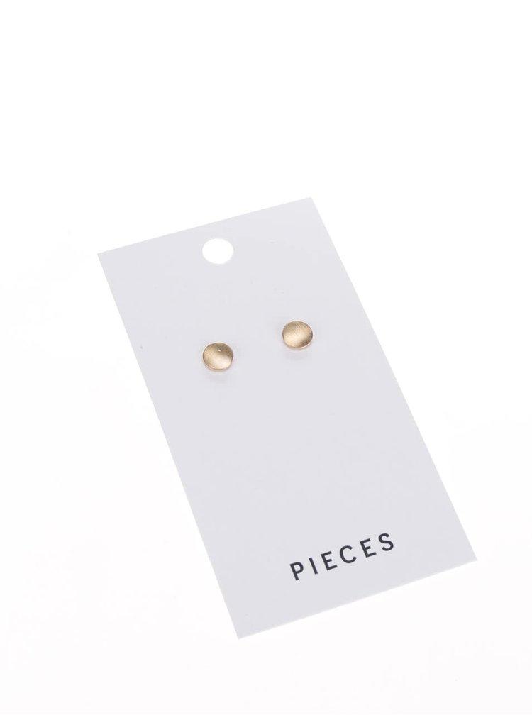 Náušnice ve zlaté barvě Pieces Miebe