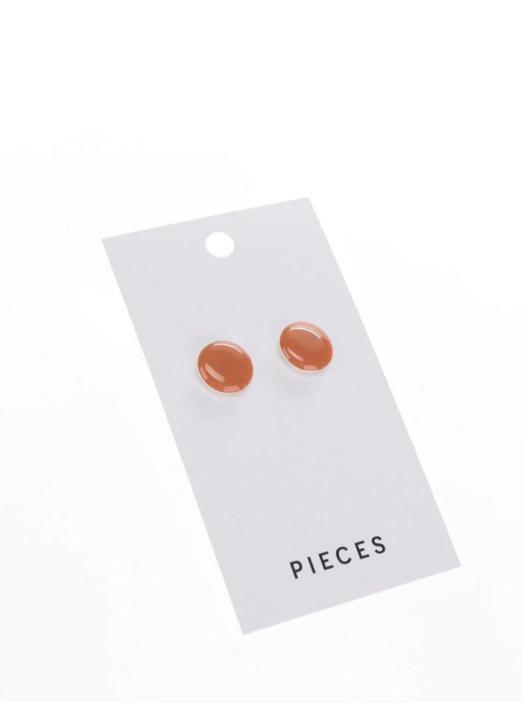 Oranžové náušnice Pieces Miebe
