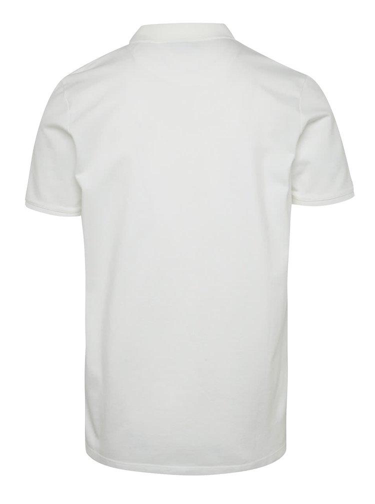 Bílé polo tričko s krátkým rukávem Jack & Jones Belfast