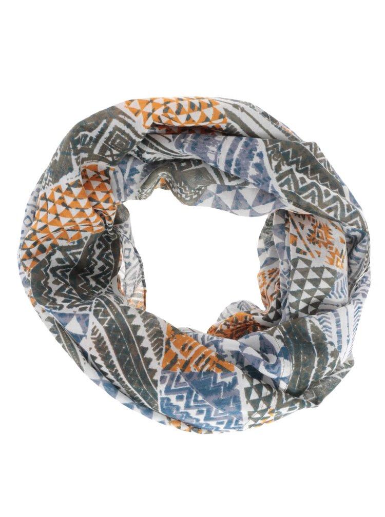 Zeleno-modrý dutý šátek Pieces Soon