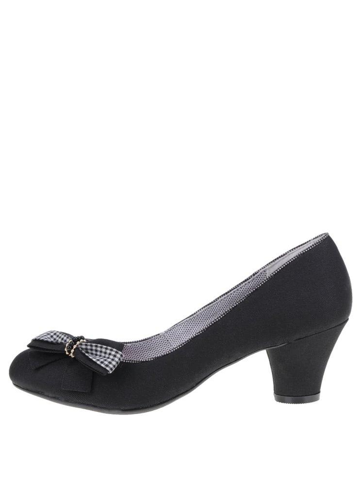 Pantofi cu toc negri cu funda  Ruby Shoo Lily
