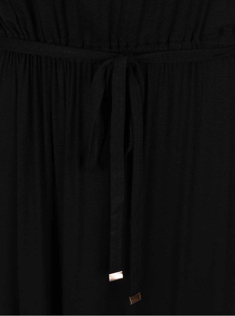 Černé maxišaty s detaily ve zlaté barvě Dorothy Perkins