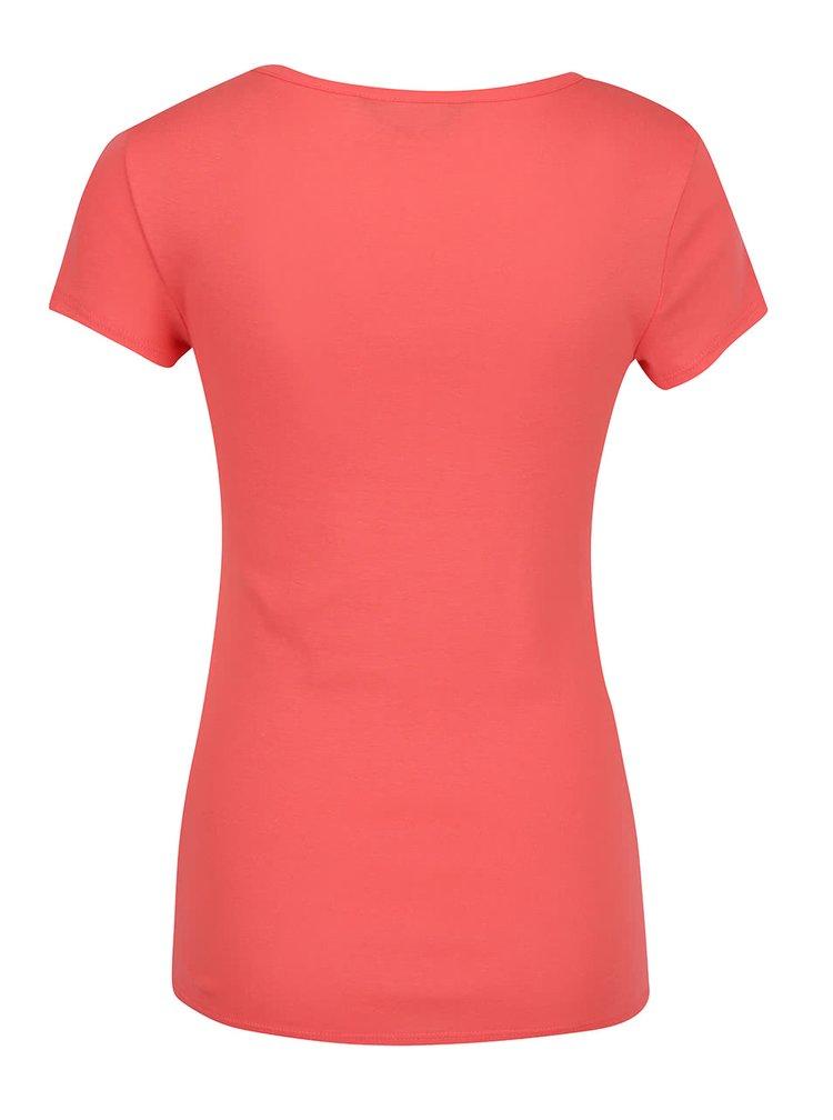 Tricou rosu corai Dorothy Perkins basic