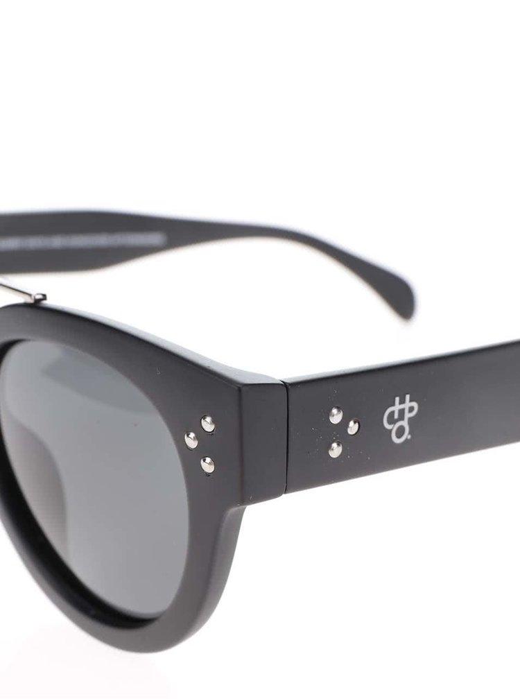 Černé unisex sluneční brýle se sklem v černé barvě CHPO Stockholm