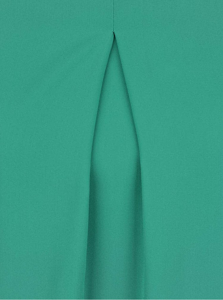 Zelené šaty s průstřihy na ramenou Dorothy Perkins