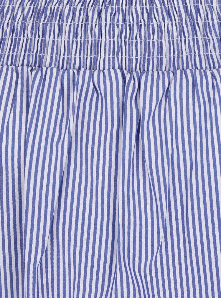 Top albastru&alb Dorothy Perkins cu fundă la spate