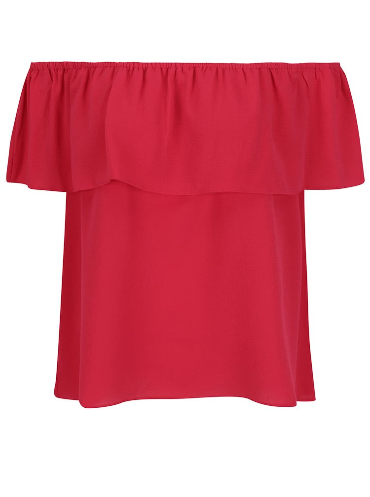 Růžový top s odhalenými rameny Dorothy Perkins