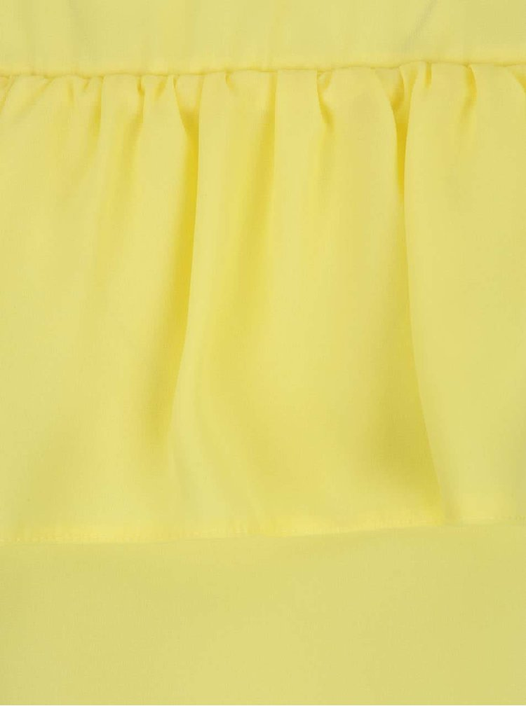 Žlutá halenka s průstřihy na ramenou Dorothy Perkins