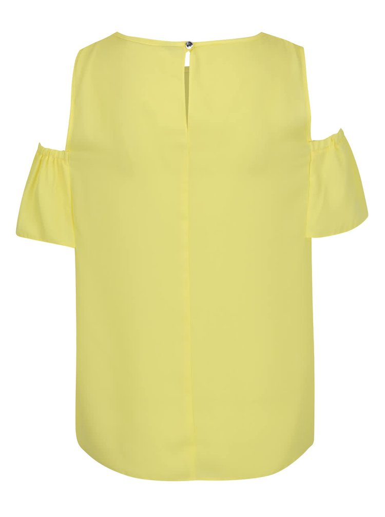 Žlutá halenka s průstřihy na ramenou Dorothy Perkins Petite