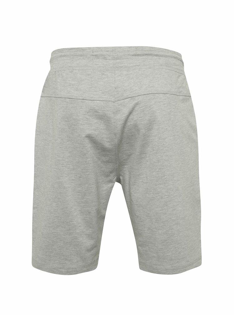 Pantaloni sport scurti gri deschis melanj ONLY & SONS New Huxi din bumbac cu talie elastica
